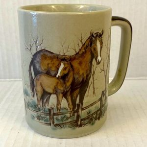 Horse coffee cup equestrian colt foal tea mug